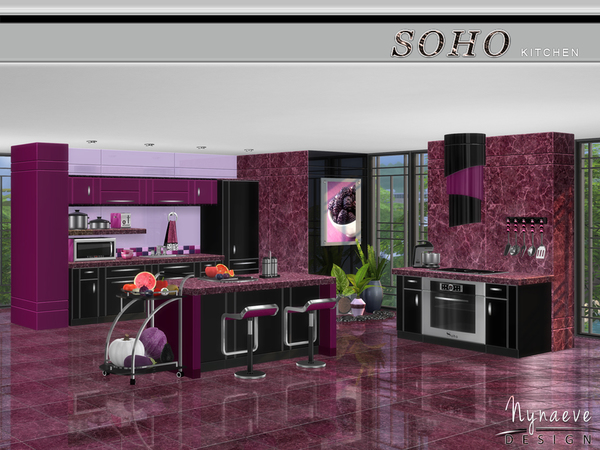 Soho Kitchen by NynaeveDesign at TSR image 4516 Sims 4 Updates