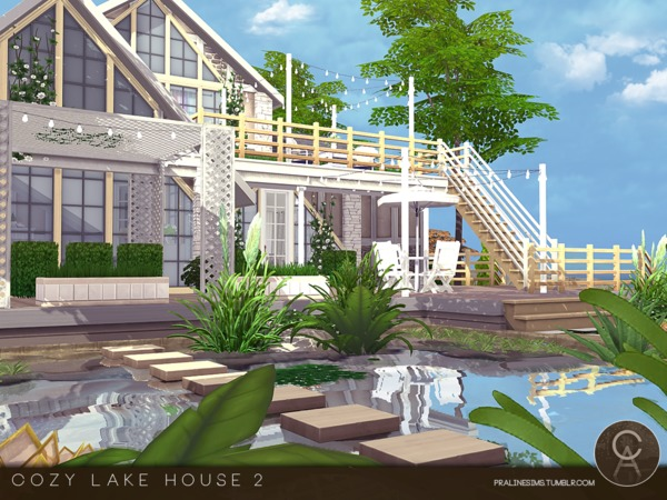 Sims 4 Cozy Lake House 2 by Pralinesims at TSR