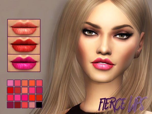 Sims 4 Fierce Lipstick by Kitty.Meow at TSR