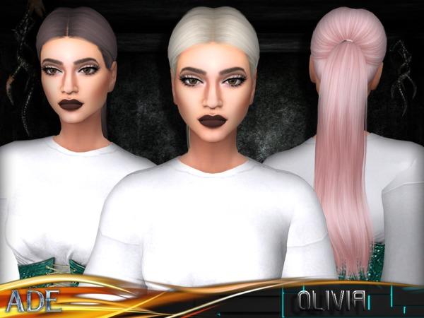 Sims 4 Olivia hair by Ade Darma at TSR