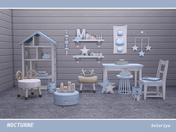 Nocturne kidsroom by soloriya at TSR image 4713 Sims 4 Updates