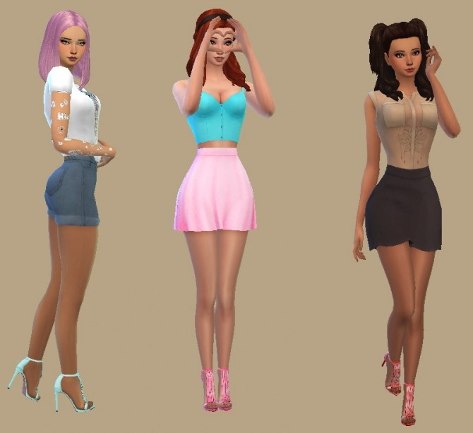 Sims 4 Madlen Shoes Recolors by CandySimmer at SimsWorkshop