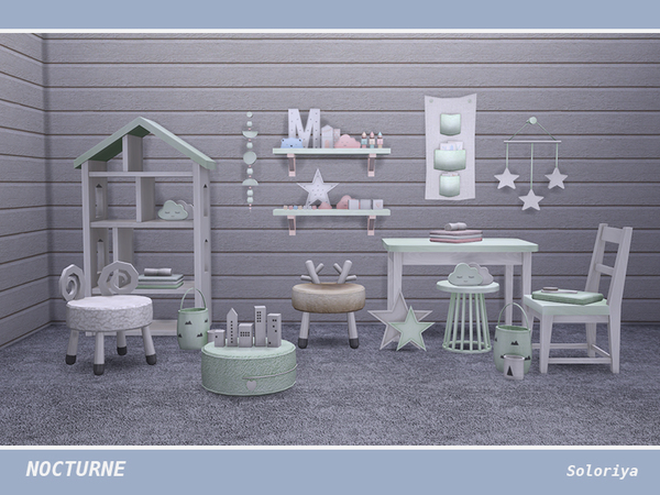 Nocturne kidsroom by soloriya at TSR image 4814 Sims 4 Updates