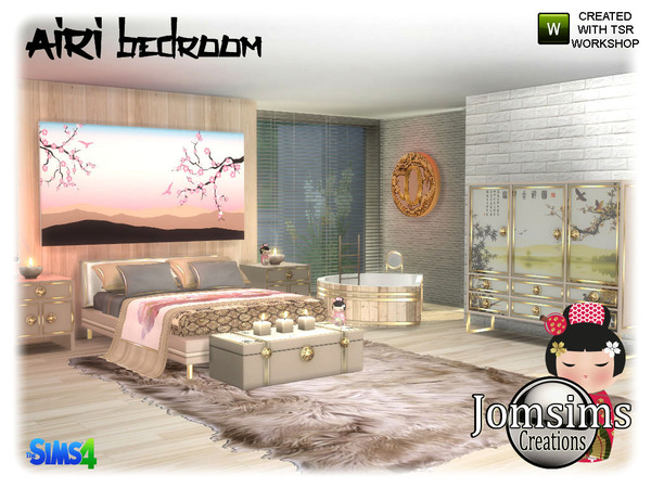 Airi bedroom by jomsims at TSR image 4816 Sims 4 Updates