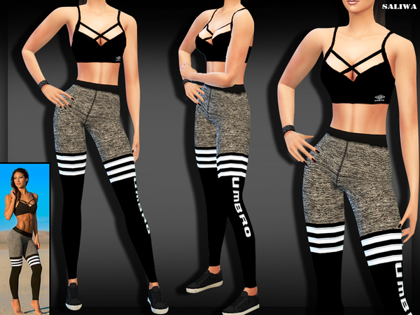 Sims 4 Fitness Outfit by Saliwa at TSR