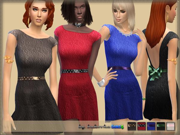 Sims 4 Dress & Bow Back by bukovka at TSR