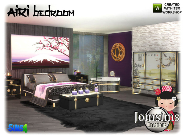 Airi bedroom by jomsims at TSR image 5119 Sims 4 Updates