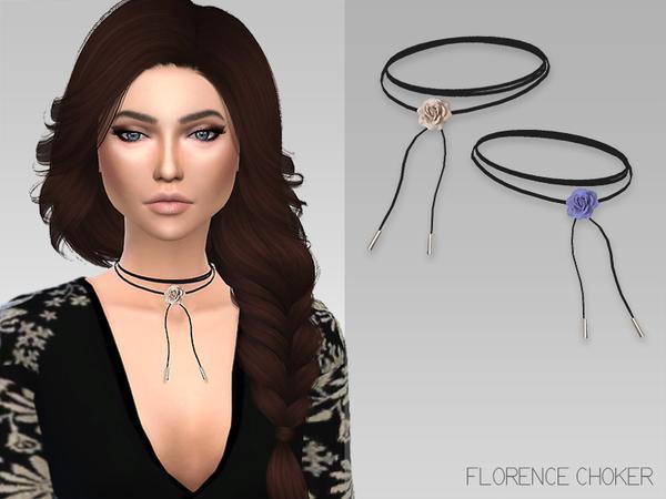Sims 4 Florence Choker by GrafitySims at TSR