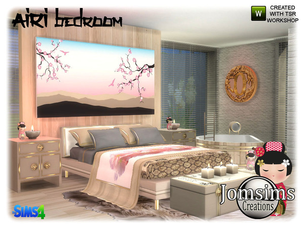 Airi bedroom by jomsims at TSR image 5217 Sims 4 Updates