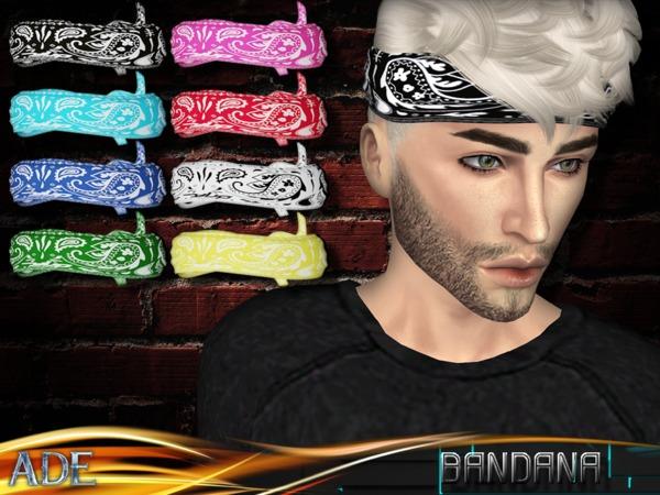 Sims 4 Caleb Bandana by Ade Darma at TSR