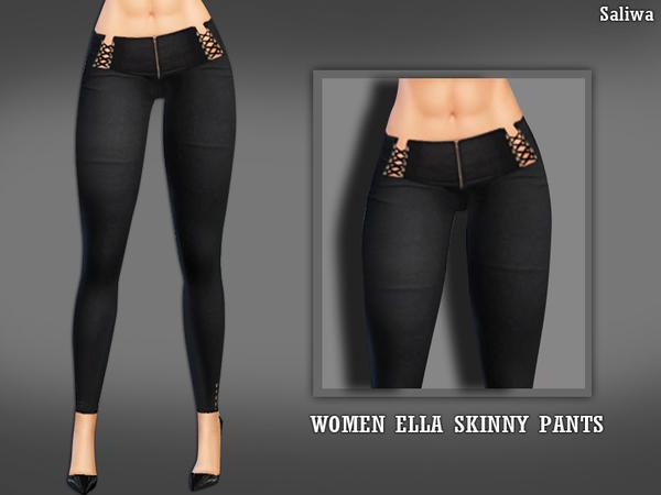 Sims 4 Ella Skinny Pants by Saliwa at TSR