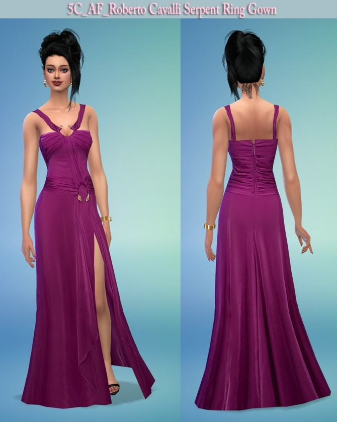 Sims 4 Serpent Ring Gown at 5Cats