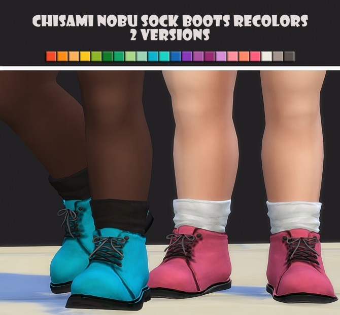 Chisami Nobu Sock Boots Recolors (Toddlers) at Maimouth Sims4 image 541 670x622 Sims 4 Updates