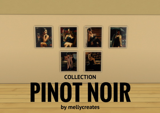 Pinot Noir Art Collection at MellyCreates image 5413 Sims 4 Updates
