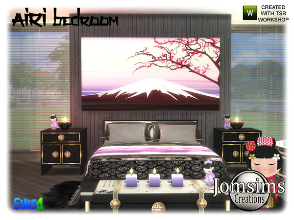 Airi bedroom by jomsims at TSR image 5416 Sims 4 Updates