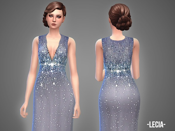 Sims 4 Lecia gown by April at TSR
