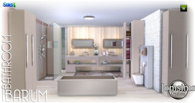 Ibarium bathroom at jomsims creations sims 4 updates for Bathroom ideas sims 4
