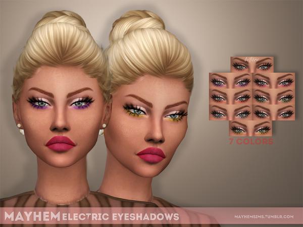 Sims 4 Electric Eyeshadows by mayhem sims at TSR