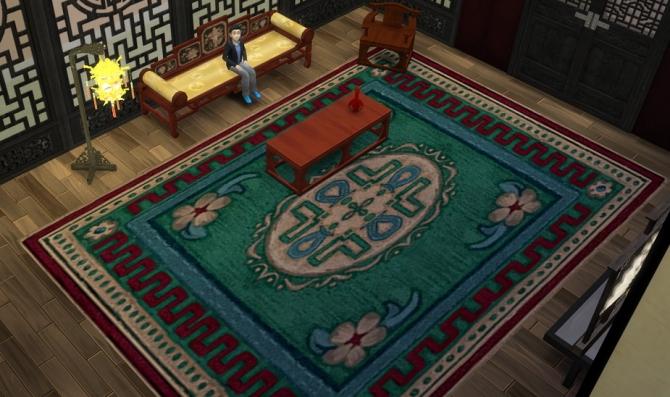 race track area rug