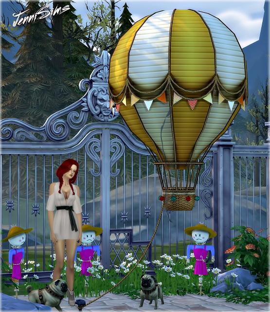 Sims 4 Decoratives Vol 39 (Air balloon,Scarecrow,Dog puppet) at Jenni Sims