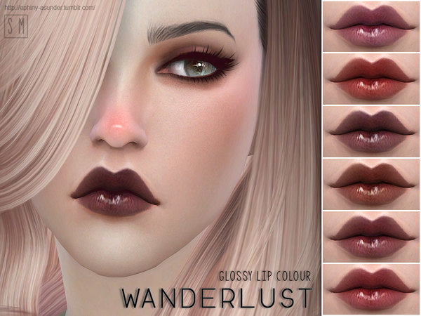 Wanderlust Glossy Lip Colour by Screaming Mustard at TSR image 580 Sims 4 Updates