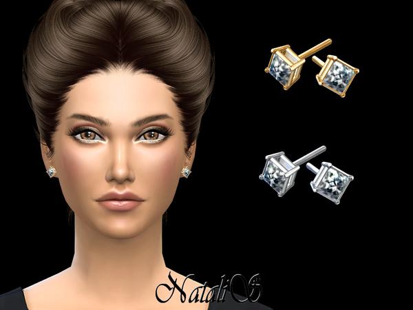Sims  Male Diamond Earrings