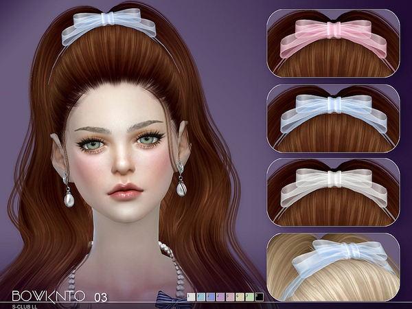Bowknot N03 by S Club LL at TSR image 5915 Sims 4 Updates
