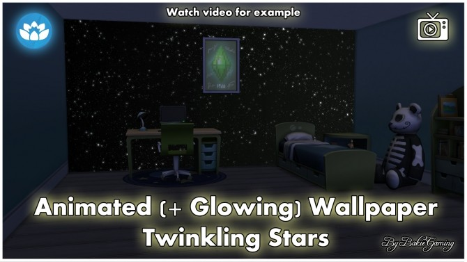 Sims 4 Animated Wallpaper Twinkling Stars by Bakie at Mod The Sims
