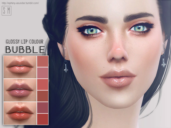 Sims 4 Bubble Glossy Lip Colour by Screaming Mustard at TSR