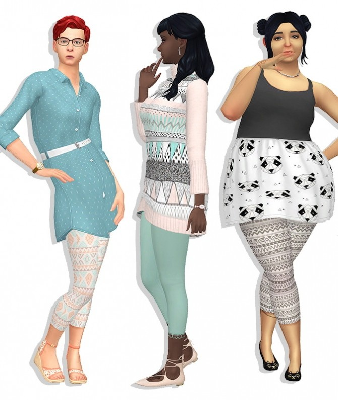 A Fine Foundation Leggings at Deetron Sims image 617 670x792 Sims 4 Updates