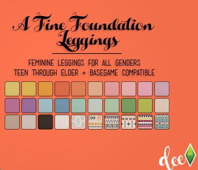A Fine Foundation Leggings at Deetron Sims image 624 Sims 4 Updates
