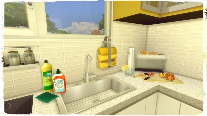 Blue & Yellow Kitchen with Livingroom at Dinha Gamer image 6310 670x377 Sims 4 Updates