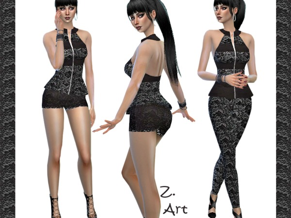 Sims 4 TrendZ 02 jumpsuit by Zuckerschnute20 at TSR