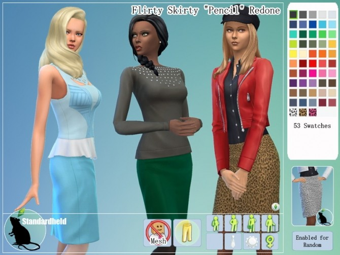 Sims 4 Flirty Skirty Redone by Standardheld at SimsWorkshop