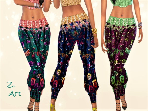 Sims 4 Bollylook 01 Set top and pants by Zuckerschnute20 at TSR