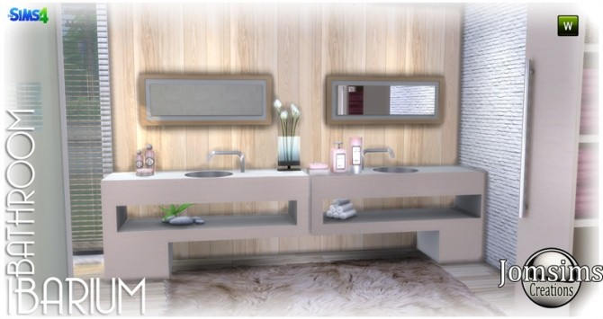 Ibarium Bathroom At Jomsims Creations Sims 4 Updates