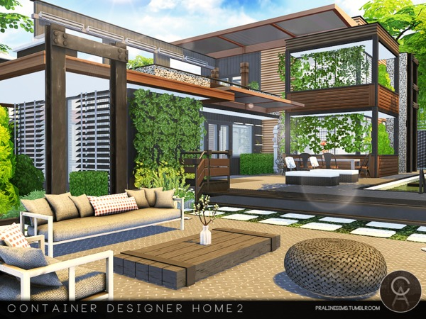 Sims 4 Container Designer Home 2 by Pralinesims at TSR