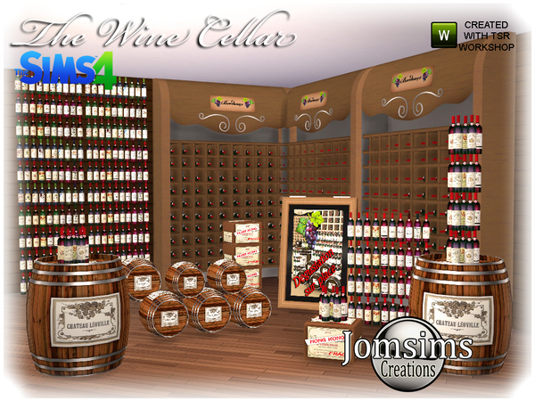 The wine cellar by  jomsims at TSR image 660 Sims 4 Updates