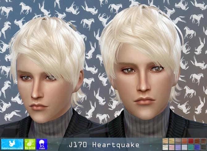 Sims 4 J170 Heartquake hair (Pay) at Newsea Sims 4