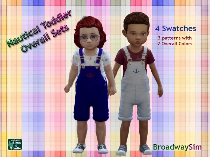 Nautical Toddler Overalls by deegardiner3 at Mod The Sims image 665 670x503 Sims 4 Updates