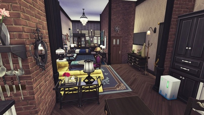 Apartment R004 by Bangsain at My Sims House image 669 670x379 Sims 4 Updates