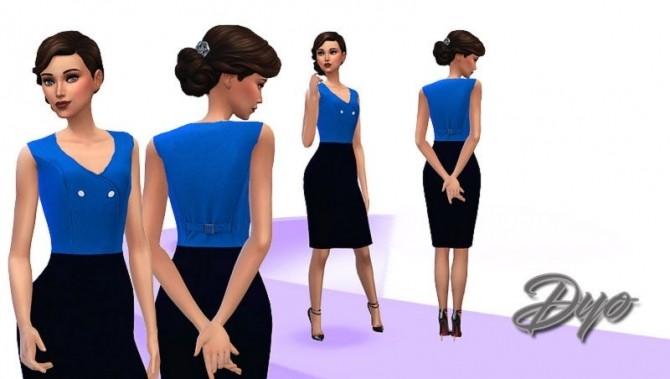 Sims 4 Elegance dress 2 by Dyokabb at Les Sims4