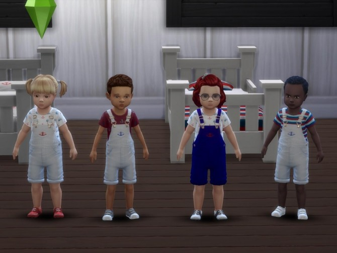 Nautical Toddler Overalls by deegardiner3 at Mod The Sims image 675 670x503 Sims 4 Updates