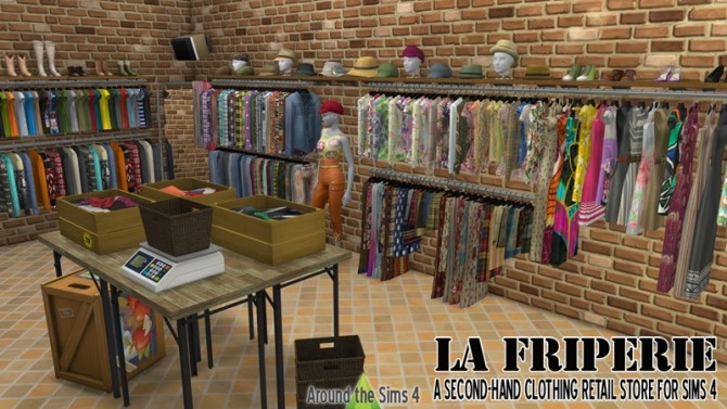 Sims 4 La Friperie second hand clothing retail store at Around the Sims 4