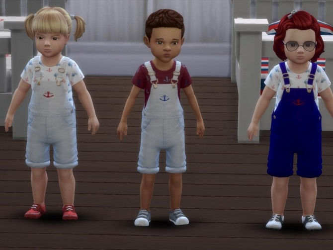 Nautical Toddler Overalls by deegardiner3 at Mod The Sims image 685 670x503 Sims 4 Updates