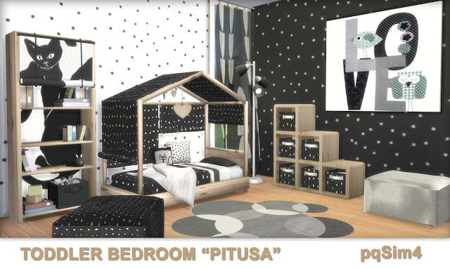 Pitusa Toddler Bedroom by Mary Jiménez at pqSims4 image 6911 Sims 4 Updates