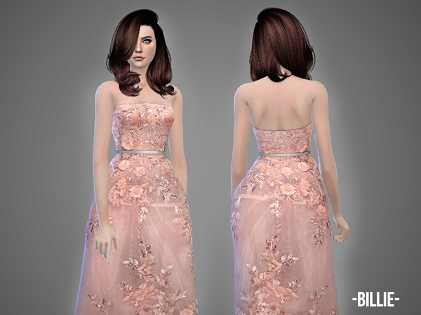 Sims 4 Billie gown by April at TSR