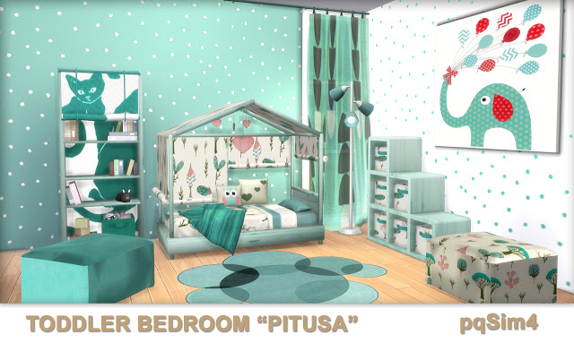 Pitusa Toddler Bedroom by Mary Jiménez at pqSims4 image 7116 Sims 4 Updates