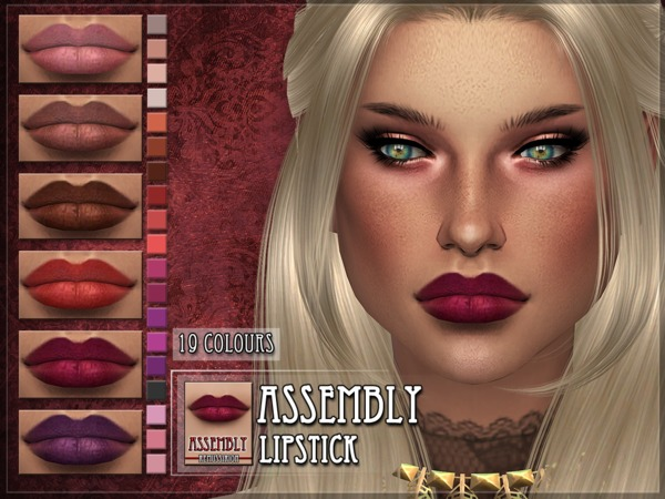 Sims 4 Assembly Lipstick by RemusSirion at TSR
