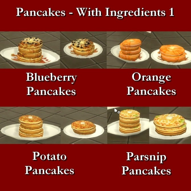 Custom Food Pancakes with Ingredients 1 by Leniad at Mod The Sims image 7210 670x670 Sims 4 Updates